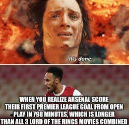 Arsenal score memes